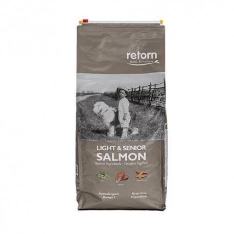 Retorn light & senior salmón pienso natural para mayores