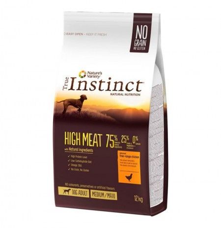 True instinct high meat pollo medium - maxi perros adultos