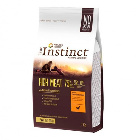 True instinct high meat pollo para gatos adultos