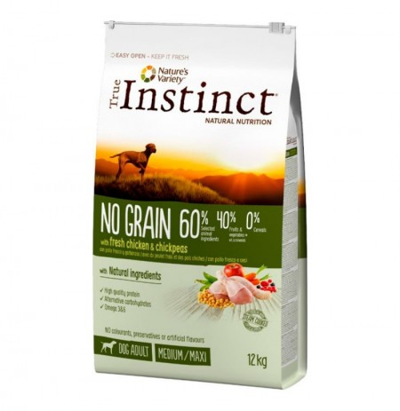 True instinct no grain pollo medium - maxi perros adultos