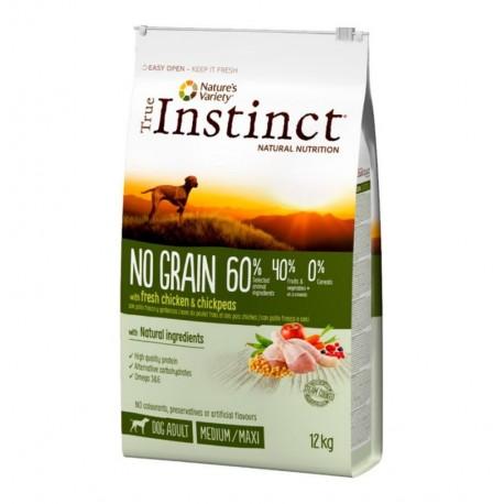True instinct no grain pollo medium - maxi perros adultos