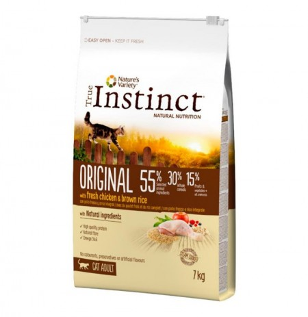 True instinct original pollo con arroz integral gatos adultos