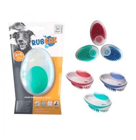 Cepillo dispensador de jabón y masaje m-pets rubeaz