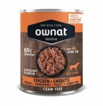 Ownat pollo con zanahorias latas para perros
