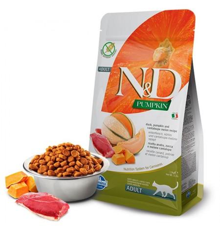 Farmina n&d feline pumpkin pato para gatos adultos