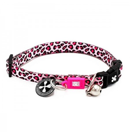 Max & molly collar leopardo rosa para gatos