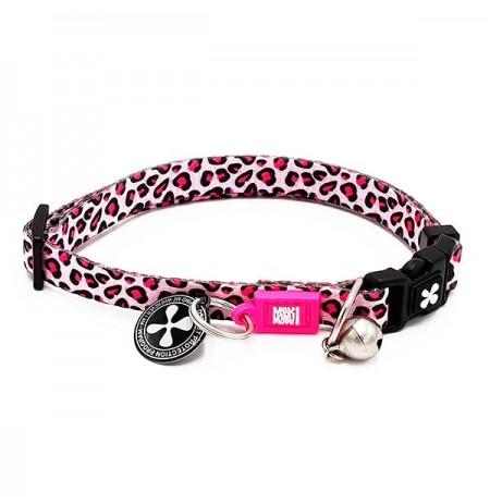 Max & molly collar leopardo rosa para gatos