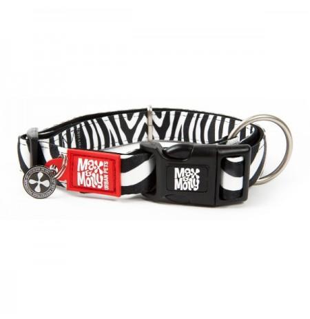 Max & molly collar cebra para perros