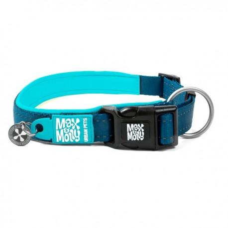 Max & molly collar matrix blue sky para perros