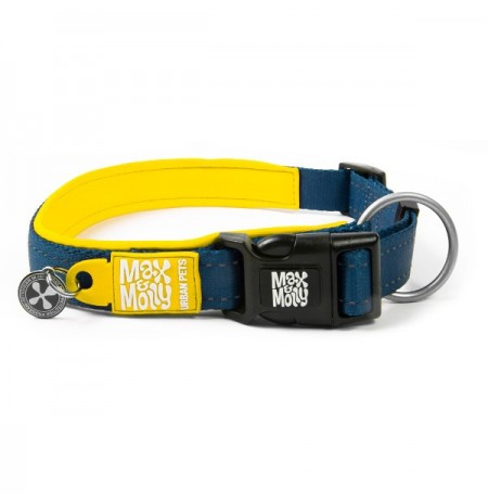 Max & molly collar matrix yellow para perros