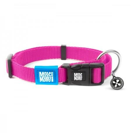 Max & molly collar pure line rosa para perros