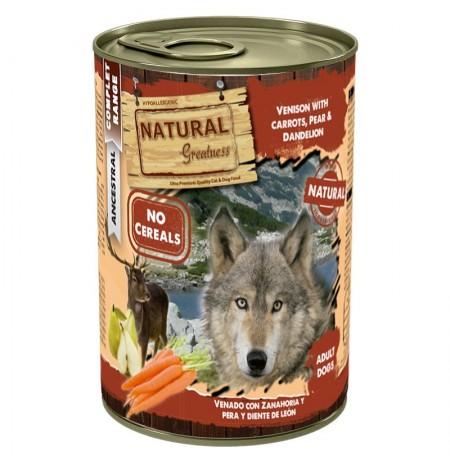Natural greatness venado con zanahoria latas para perros