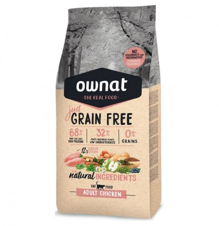 Ownat cat just grain free adult pollo para gatos