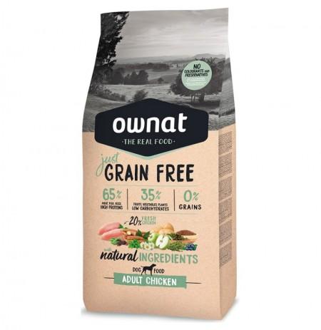 Ownat just grain free adult pollo para perros