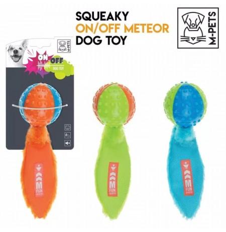 Juguete meteor on-off con silenciador m-pets para perros