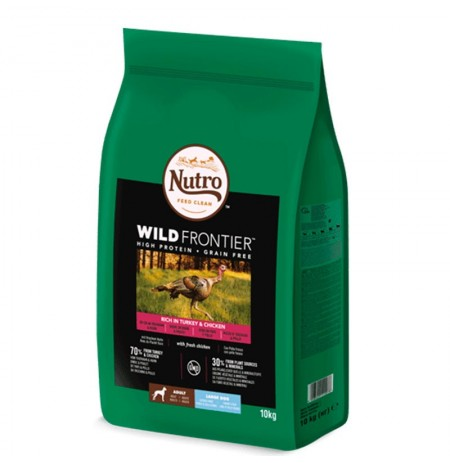 Nutro wild frontier pavo y pollo razas grandes